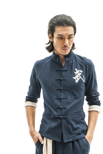 Stylish Blue Kung Fu Shirt