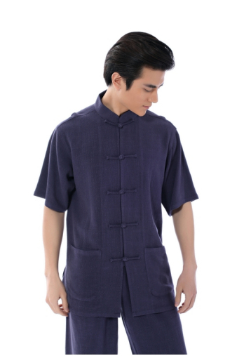 Plain Blue Kung Fu Shirt