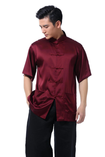 Shiny Red Kung Fu Shirt