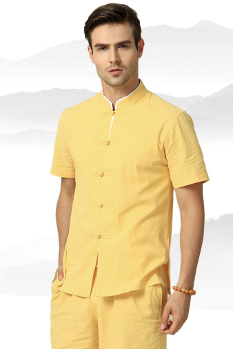 Yellow Short Sleeve Suit