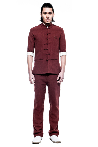 Burgundy Kung Fu Suit