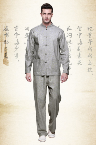 Grey Kung Fu Suit
